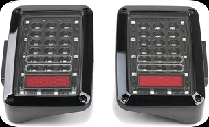 Rubi Series JK LED Tail Lights CLEAR LENS
